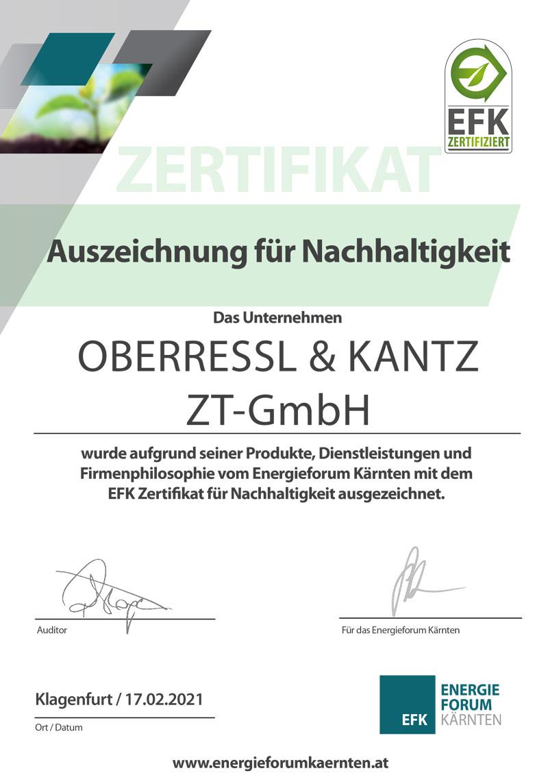EFK Certificate